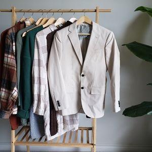 CLUB MONACO Cream/Tan Suit Jacket